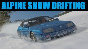 renault alpine gta renault alpine gta le mans snow drifting forza horizon 3