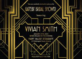 Gatsby Invitations Great Gatsby Bridal Shower Invitation Art Deco Customized