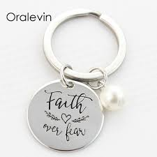graduation gift jewelry faith fear inspired charms sted keychain graduation