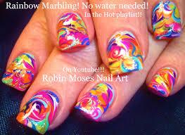 robin moses nail art neon rainbow nails done with no water