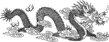 chinese dragon clouds coloring free printable coloring pages