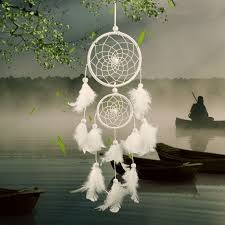 online get cheap white feather pearl dreamcatcher wind aliexpress home decor 2017 white dreamcatcher wind chimes indian style pearl feather pendant dream catcher giftcar hanging