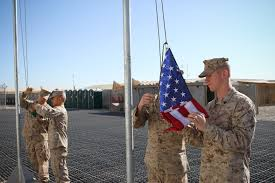 Soldier With Flag Flag From A Father To Be Marine In Afghanistan Dedicates Flag To