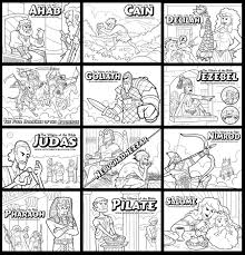 the villains of the bible coloring pages by artistxero on deviantart