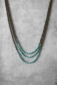 ananke jewelry on etsy beaded necklace layered necklace turquoise