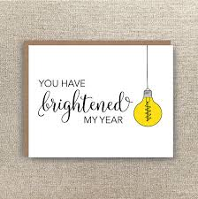 thank you cards for teachers thank you card brightened my year card thank you