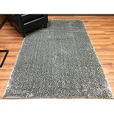 Shaggy Grey Rug Amazon Com Blue Shag 5x7 Modern Contemporary Area Rugs Kitchen