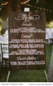 Buffet Menu For Wedding by Menu Displays For Your Pittsburgh Wedding