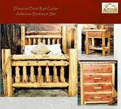 Cedar Bedroom Furniture Cedar Log Arkansas Bedroom Set 3 Pc The Log Furniture Store