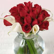Roses And Lilies Table Centerpiece Red Roses And Calla Lilies 2bdx20 Include