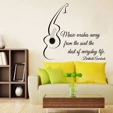 guitar wall decals quote music words vinyl decal sticker home details guitar wall