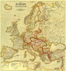 European Countries Map Of Europe Showing The Countries Established By The Peace