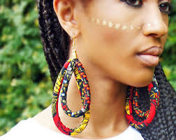 big ear rings africa earrings etsy