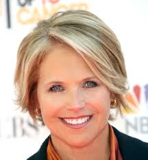 easy hairstyles for fifty year old women katie couric short blonde straight hair in mature cropped
