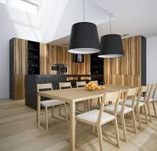 contemporary loft dining room tables light and dark wood kitchen