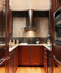 beautiful red floral pattern kitchen cabinet design ideas with