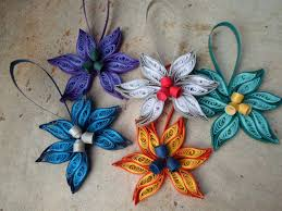quilled tree ornaments set of 5 paper decorations
