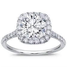 halo engagement ring settings cut cushion halo setting r2940