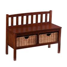 Otterville Wood Storage Entryway Benchindoor Wooden Bench Diy by Espresso Wood Storage Wayfair