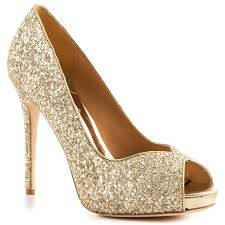 kassidy platinum glt gold wedding shoes glitter heels and - Gold Wedding Shoes For