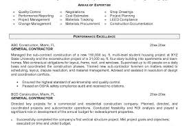 General Contractor Resume Sample by Sample Resume Of General Contractor Templates