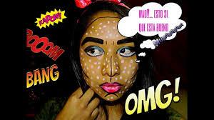 Halloween Makeup Comic Tutorial De Maquillaje Para Halloween Comic Makeup Tutorial Art