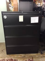 black lateral file cabinet 42 inch four drawer black lateral file cabinet