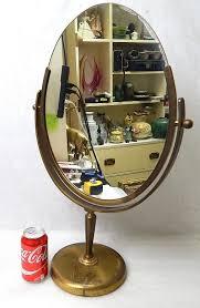 Antique Vanity Mirror Antique Brass Oval Department Store Vanity Flip Mirror Curiosity