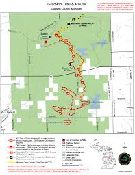 Michigan River Map by Gladwin Orv Trail Maplets