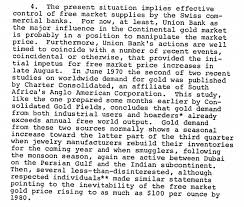 declassified cia memos reveal probes into gold market manipulation