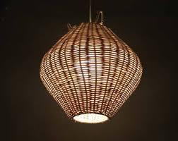 Creative Lighting Fixtures Hand Made Natural Rattan Pendant Lights Hand Made Rattan