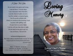 make a funeral program obituary program ayudapsicologicaci