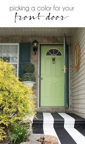 Painting Exterior Door Picking The Right Color And Painting Exterior Doors Cuckoo4design