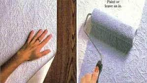 Painting Over Textured Wallpaper - wallpaper liner fix rough surfaces
