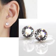 clip on earings swarovski invisible clip on earrings non piered