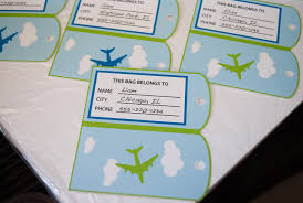 personalized party favor bags airplane favor bag goodie bag luggage tags personalized