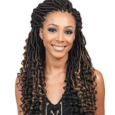 crochet black weave hair 20inch ombre curly faux locs crochet braiding curly weave hair