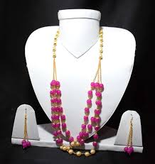 pink coloured beads necklace images Jaipur beads pink colour necklace set for girls women find the jpg