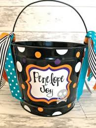 personalized halloween bucket lots of designs available