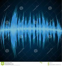 blue sound wave stock vector image 70664713