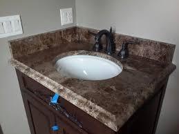 Dark Vanity Bathroom by Bathroom Vanity Tops Chicago Archives Ldk Countertops Archive