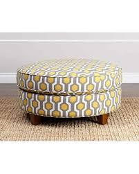 Pattern Ottoman Amazing Deal On Conway Yellow Pattern Fabric Ottoman Yellow