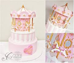 carousel baby shower carousel baby shower cake would ve loved to add more detai flickr