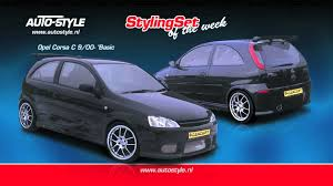 stylingset opel corsa c 9 00 u0027basic u0027 by autostyle youtube