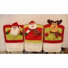 christmas chair covers christmas chair cover 3pcs lot 3d santa snowman elk chair back