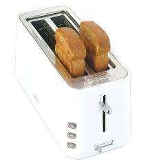 Bread Shaped Toaster Kenwood Ttp103 4 Slice Toaster White Amazon Co Uk Kitchen U0026 Home