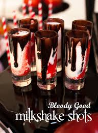 twilight bloody good vampire milkshake shots milkshake