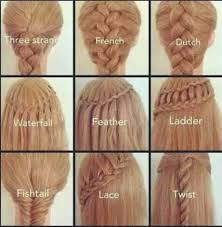 types of hair braids 1000 ideas about types of braids on pinterest updos braid