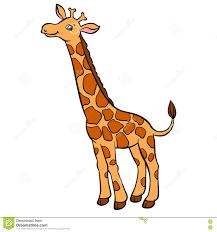 cartoon wild animals for kids little cute spotted giraffe stock