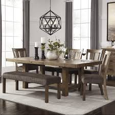 Ashley Dining Room Chairs Light Brown Farmhouse Style Kitchen Table With Bench And Classic X